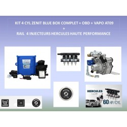 (2) KIT 4 CYL ZENIT BLUE BOX OBD COMPLET