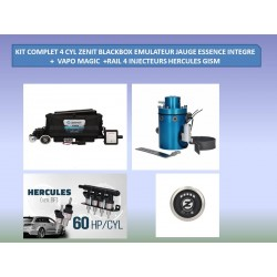 (8) KIT 4 CYL ZENIT BLACKBOX MAGIC EMUL COMPLET