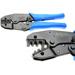 CRIMPING TOOL WITH RATCHET FOR 0.5-6 MM