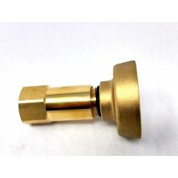 RACCORD COMPLET ADAPTATEUR BOUTEILLE RECHARGEABLE GAZ NOIRE 6195-C53